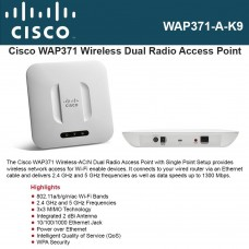 Cisco Access point Dual Radio 802.11ac Access Point with PoE (FCC) WAP371-A-K9
