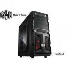 Chasis cooler master k350 malla en el panel frontal rc-k350-kwn1-en