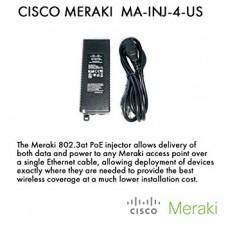 Cisco POWER INJECTOR PARA AP Meraki MR 802.3at PoE Injector (US Plug)