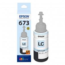 epson botella de tinta cyan claro, l800, t673520-al