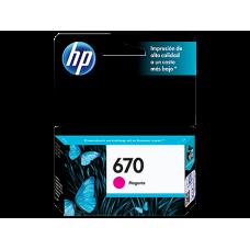 Cartucho Hp magenta 670 hp deskjet ink advantage 3525 4615 cz115al