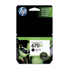 Cartucho Hp negro 670xl hp deskjet ink advantage 3525 4615 cz117al