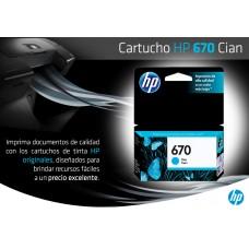 Cartucho Tinta HP Magenta 670, CZ115AL