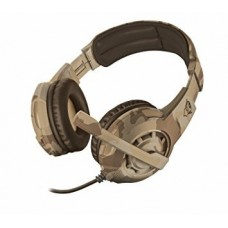 Audifono Diadema Gamer trust gxt 322d carus desert camo 3.5 mm pc,laptop,ps4,xbox one cafe camuflado 22125