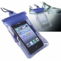 bolsa para celular waterproof para piscina azul