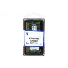 Kingston Memoria DDR3, 1600MHz, Non-ECC, CL11, 2R, X8, 1.5V, Unbuffered, SODIMM, 204-pin KCP316SD8/8