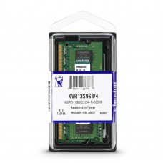 Kingston Memoria Portatil 4GB 1333MHz DDR3, Non-ECC, CL9, 1.5V, Unbuffered, SODIMM 1Rx8 KVR13S9S8/4