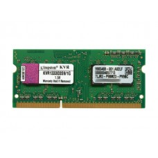 Kingston Memoria Portatil DDR3 - 1GB - 1333Mhz Non-ECC, CL9, 1.5V, Unbuffered, SODIMM, KVR1333D3S91G