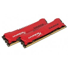 kingston hyperx savage memory red - 16gb kit (2x8gb) - ddr3 2400mhz intel xmp, ddr3, 2400mhz hx324c11srk2/16