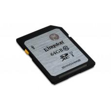 kingston tarjeta sd 64gb sdxc class10 uhs-i 45mb/s read flash card sd10vg2/64gb
