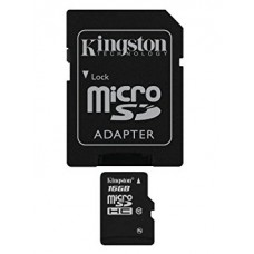 kingston memoria micro sd clase 10 con adaptador sd 4gb sdc10g2/16gb