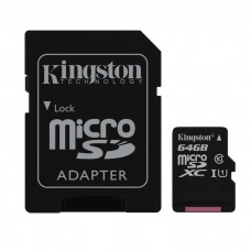 kingston memoria micro sd clase 10 con adaptador sd 4gb sdc10g2/64gb