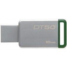 kingston memoria usb 16gb 3.0 datatraveler 50 (metal/green) dt50/16gb