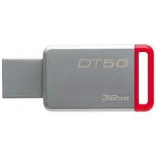 kingston memoria usb 32gb 3.0 datatraveler 50 (metal/red) dt50/32gb