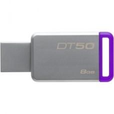 kingston memoria usb 8gb 3.0 datatraveler 50 (metal/purple) dt50/8gb