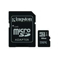 kingston tarjeta microsd con adaptador sd - 16gb sdc4/16gb