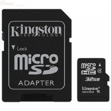 kingston tarjeta microsd con adaptador sd - 32gb sdc4/32gb