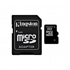 kingston tarjeta microsd con adaptador sd 8gb sdc4/8gb