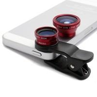 ojo de pez para celular rojo