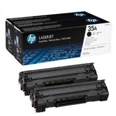 Toner HP 35A Black Caja X 2 Laserjet, CB435AD
