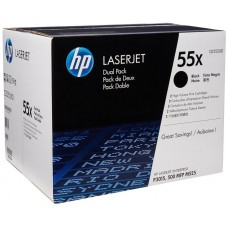 Toner HP 55X Black Caja x 2 Laserjet P3015, CE255XD