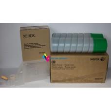 toner xerox wc 584x/585x 2pk black toner / waste toner bottle (2 toners, 1 bottle / carton) 006r01551